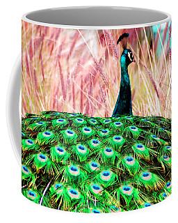 Coffee Mug featuring the photograph Colorful Peacock by Matt Harang