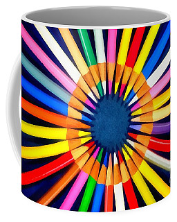 Coffee Mug featuring the painting Colorful Pencils by George Atsametakis