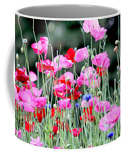 Coffee Mug featuring the photograph Colorful Poppies by Peggy Collins