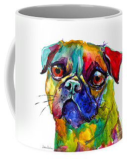 Colorful Pug Dog Painting  Coffee Mug by Svetlana Novikova