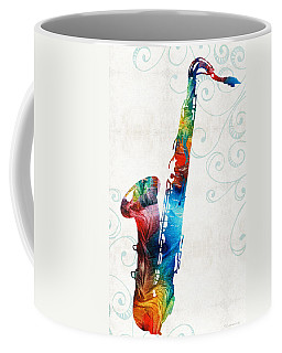 Colorful Saxophone 3 By Sharon Cummings Coffee Mug