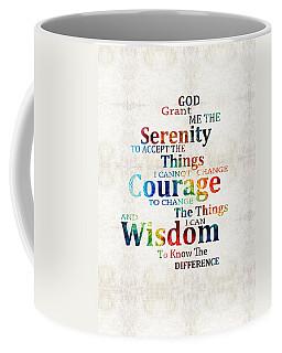 Colorful Serenity Prayer By Sharon Cummings Coffee Mug