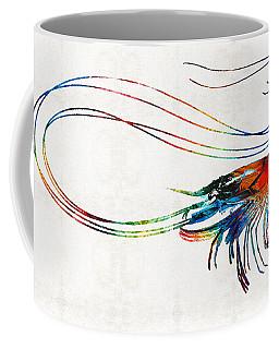 Colorful Shrimp Art By Sharon Cummings Coffee Mug