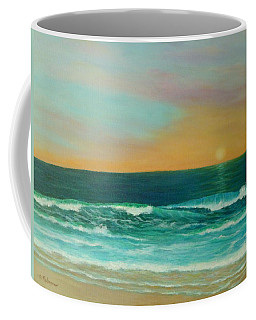 Colorful Sunset Beach Paintings Coffee Mug