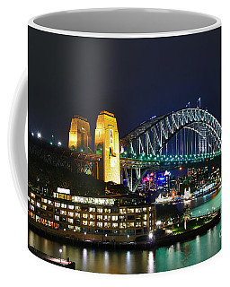 Colorful Sydney Harbour Bridge By Night Coffee Mug