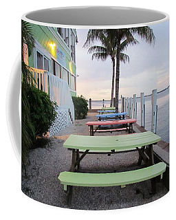 Coffee Mug featuring the photograph Colorful Tables by Cynthia Guinn