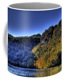 Coffee Mug featuring the photograph Colorful Trees Over A Lake by Jonny D