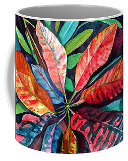 Colorful Tropical Leaves 2 Coffee Mug
