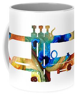 Colorful Trumpet Art By Sharon Cummings Coffee Mug