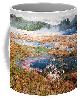 Coffee Mug featuring the photograph Colorful Waters by Lars Lentz
