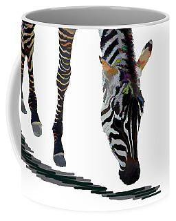 Coffee Mug featuring the digital art Colorful Zebra 2 by Teresa Zieba