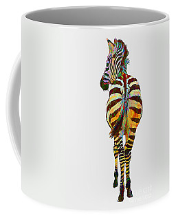 Colorful Zebra Coffee Mug by Teresa Zieba