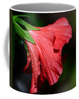 Colors Of Love. Red Hibiscus Flower Coffee Mug by Connie Fox