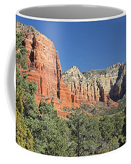 Coffee Mug featuring the photograph Colors Of Sedona by Penny Meyers