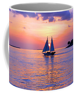 Colors Of Sunset Coffee Mug by Iryna Goodall