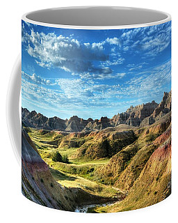 Coffee Mug featuring the photograph Colors Of The Badlands by Mel Steinhauer