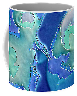 Coffee Mug featuring the photograph Colors Of The Sea 1 by Nadalyn Larsen