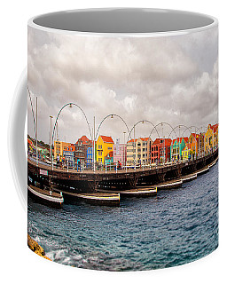 Colors Of Willemstad Curacao And The Foot Bridge To The City Coffee Mug