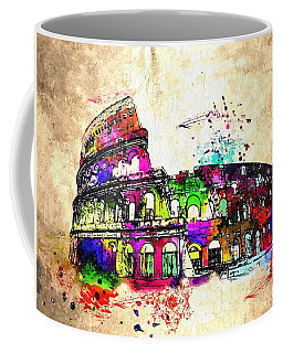 Colosseo Grunge  Coffee Mug by Daniel Janda