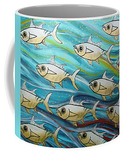 Coloured Water Fish Coffee Mug