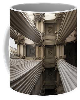 Columns At The National Archives In Washington Dc Coffee Mug
