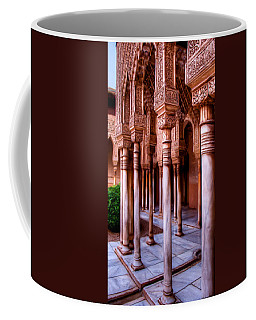 Columns Of The Court Of The Lions - Painting Coffee Mug