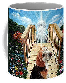 Come Walk With Me Over The Rainbow Bridge Coffee Mug