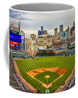 Coffee Mug featuring the photograph Comerica Park Detroit Mi With The Tigers by Nicholas  Grunas