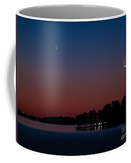 Comet Panstarrs And Crescent Moon Coffee Mug
