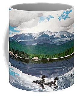 Common Loon On Togue Pond By Mount Katahdin Coffee Mug