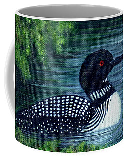 Coffee Mug featuring the painting Common Loon by Sandra Estes