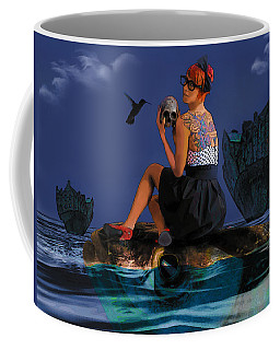 Coffee Mug featuring the digital art Commute by Galen Valle