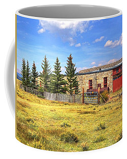 Coffee Mug featuring the photograph Como Roundhouse by Lanita Williams