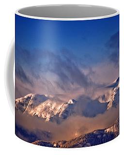 Comox Glacier And Morning Mist Coffee Mug