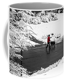 Companions Walking On Christmas Morning Coffee Mug