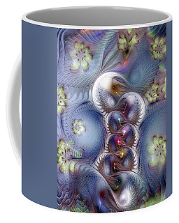 Coffee Mug featuring the digital art Complicit In Comfort by Casey Kotas