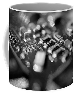 Computer Board Black And White Coffee Mug