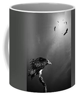 Conceptual - Vultures Awaiting Coffee Mug