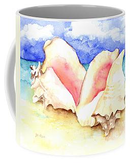 Conch Shells On Beach Coffee Mug
