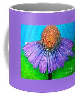 Coneflower In A Turquoise Sky Coffee Mug