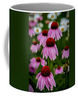 Coneflowers In Front Of Daisies Coffee Mug