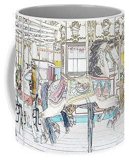 Coney Island Carousel Coffee Mug by Lilliana Mendez
