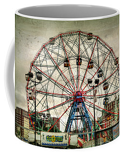Coney Island Wonder Wheel  Coffee Mug by Debra Forand