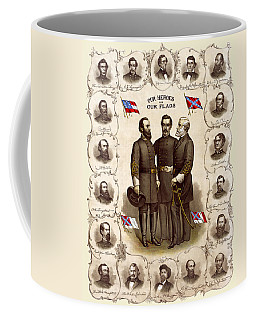 Confederate Generals And Flags Coffee Mug