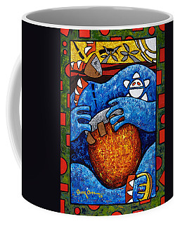Coffee Mug featuring the painting Conga On Fire by Oscar Ortiz