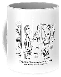 Congratulations!  Your Manuscript Coffee Mug