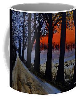 Conrad Road Sunrise Coffee Mug by Dick Bourgault