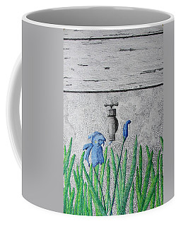 Coffee Mug featuring the painting Consequence by A  Robert Malcom