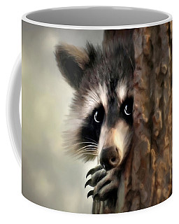 Coffee Mug featuring the mixed media Conspicuous Bandit by Christina Rollo