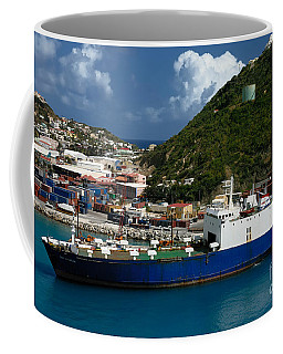 Container Ship St Maarten Coffee Mug